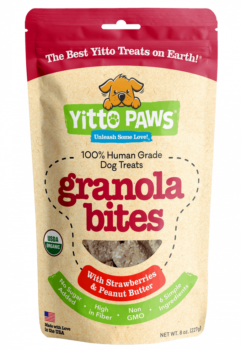 Strawberry Granola Bites Organic Human Grade Dog Treats