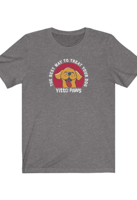 """Yitto Paws Classic """"The Best Way To Treat Your Dog"""" — 100% Cotton, Unisex Short Sleeve Tee"""