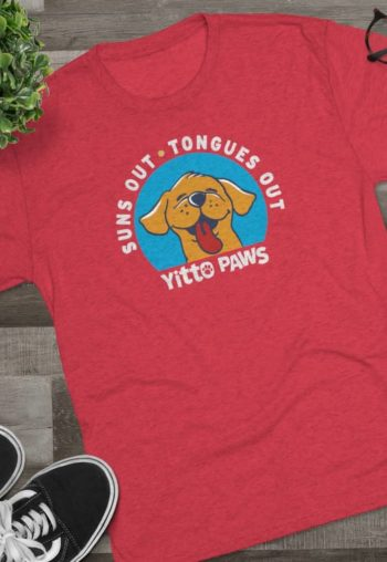 Yitto's Suns Out, Tongues Out — Men's Tri-blend Tee