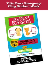 Yitto Paws Best Emergency Sticker for Pets
